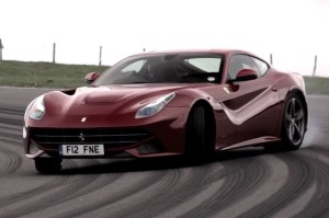 Chris Harris Drifting Ferrari F12 Berlinetta