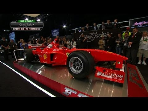 Schumacher ferrari sold at auction