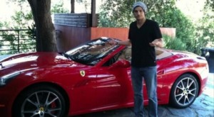 Ashton-Kutcher, Ferrari California, Ferrari